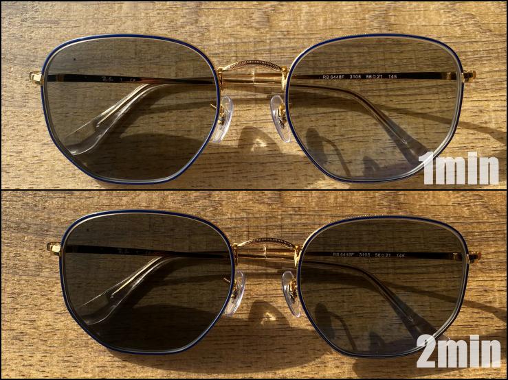 調光レンズの変化時間